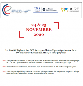 Forum Afrique : Save the date ! 1