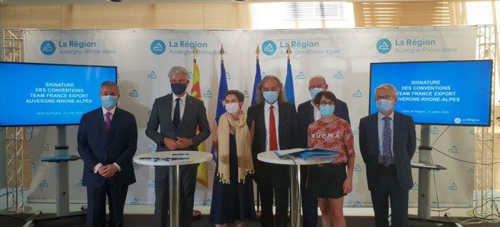 Signature de la Convention de partenariat avec la Team France Export 1