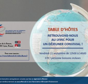 TABLE D'HÔTES - ACCUEIL DES NOUVEAUX CCE 1